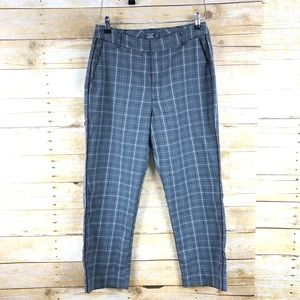 Abercrombie and Fitch Simone High Rise Plaid Pants